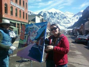 Lauren in Telluride with painter.