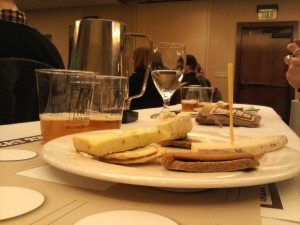 Beer and cheese at Craftbeer.com Taste Off